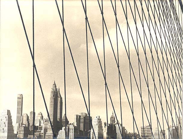 Downtown Skyline of New York, U.S.A. Silver-Gelatine Print