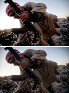 Το Associated Press δημοσίευσε στην ιστοσελίδα του, την τροποποιημένη φωτογραφία μαζί με την αρχική λήψη, για να επισημάνει την υπόθεση