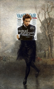 pattinson by stuart Robert Pattinson, Vanity Fair Italy March 2010 + The Skater (portrait of William Grant) by Gilbert Stuart