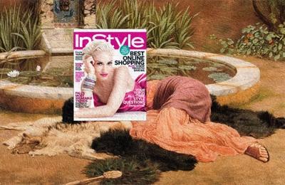 sweet escape Gwen Stefani, InStyle Magazine November 2011 + Dolce Far Niente by John William Godward