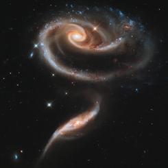 δύο αλληλεπιδρώντες γαλαξίες (UGC 1810 επάνω και UGC 1813 κάτω)