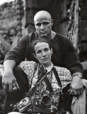 Mary Ellen Mark και Marlon Brando στα γυρίσματα του «Αποκάλυψη Τώρα» το 1977 στις Φιλιππίνες