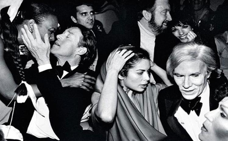 Η αγαπημένη μου, σαν μελέτη για τη χειρονομία. Halston, Bianca Jagger, Jack Haley Jr, Liza Minelli, Andy Warhol