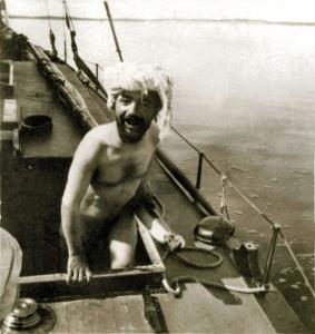 φωτογραφία του Maurice Guibert, ο Toulouse-Lautrec κάνει μπάνιο γυμνός στην Arcachon