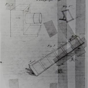 """""""Ο εξοπλισμός που χρησιμοποιείται για τη φωτογραφία,"""" αρχικά εμφανίστηκε στο χειρόγραφο του Florence, L'Ami des Arts ..., 1837"""