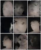 © Sally Mann αυτοπροσωπογραφία 2012 μοναδικό θετικό σε υγρή πλάκα κολλοδίου, με βερνίκι ριτίνης, 9 μέρη
