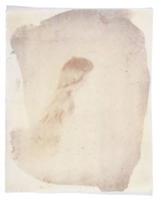 "© Dan Estabrook ""photographer's model"" 1999 μοναδικό αντίτυπο κερωμένης αρνητικής Kαλοτυπίας"