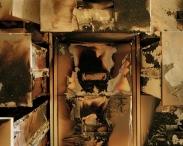 9-Simon Norfolk, καμένες αρχειοθήκες, Iraqi National Archives, Baghdad April 2003
