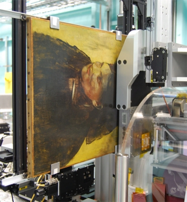 Η σάρωση του πίνακα. φωτογραφία: National Gallery of Victoriathe Australian Synchrotron