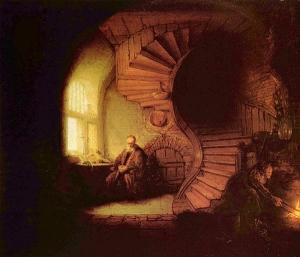 """Rembrandt -""""Φιλόσοφος σε διαλογισµό"""""""