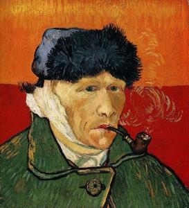 "van Gogh -""αυτοπροσωπογραφία με δεμένο αυτί"""