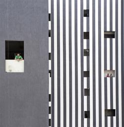 Serge Najjar 'Zebra Facade', 2014 Courtesy of Catherine Edelman Gallery