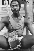 Guy With Radio, East 7th St., 1977.