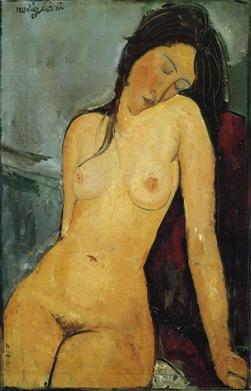 Amedeo Modigliani - Iris Tree (Female Nude) c. 1916