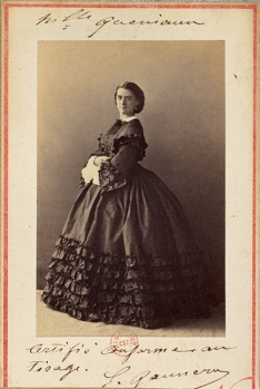 η Κονστάνς Κενιό φωτογραφημένη από τον Ναντάρ. 1861 © -BnF-Département des estampes et de la photographie