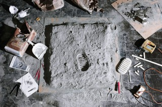 © Cortis & Sonderegger - 'το αποτύπωμα του Όλντριν στη Σελήνη', Edwin Aldrin -1969