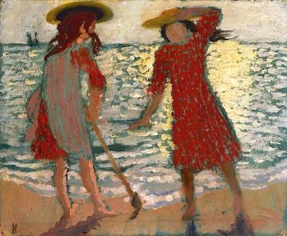 (5) On_the_Beach (γνωστό επίσης σαν 'δυο κορίτσια κόντρα στο φως') Maurice Denis,1892