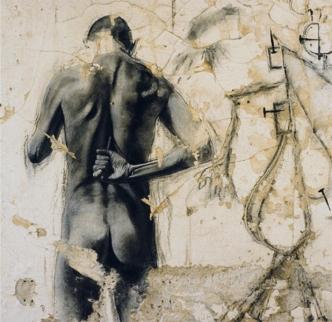 Antonin Artaud, νοσοκομείο dIvry-1997 © Ernest Pignon-Ernest