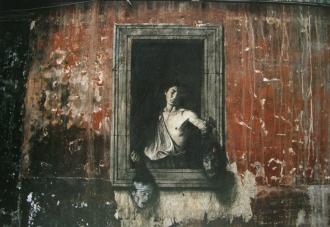 Ο Δαυίδ του Καραβάτζιο (τα κεφάλια είναι του Παζολίνι και του Καραβάτζιο) © Ernest Pignon-Ernest