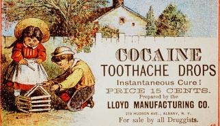 σταγόνες για πονόδοντο με κοκαΐνη (όταν οι εποχές ήταν αθώες)