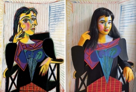 πορτραίτο της Ντόρα Μάαρ, Πικάσο © Paul Getty Museum