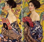 κυρία με βεντάλια, Γκούσταφ Κλιμτ © Paul Getty Museum