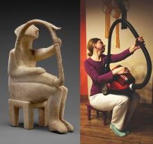 ο παίκτης άρπας, κυκλαδικό ειδώλιο © Paul Getty Museum