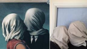 οι εραστές, Ρενέ Μαγκρίτ © Paul Getty Museum