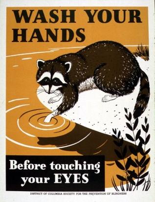 """Αμερικάνικη """"πλύνε τα χέρια σου πριν αγγίξεις τα μάτια σου"""""""