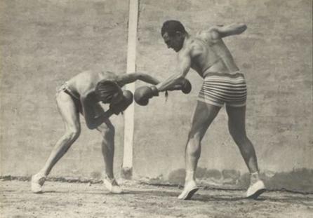 Λαρτίγκ και Σαλά παίζοντας μποξ, Rouzat , 1922 © Ministère de la Culture - France