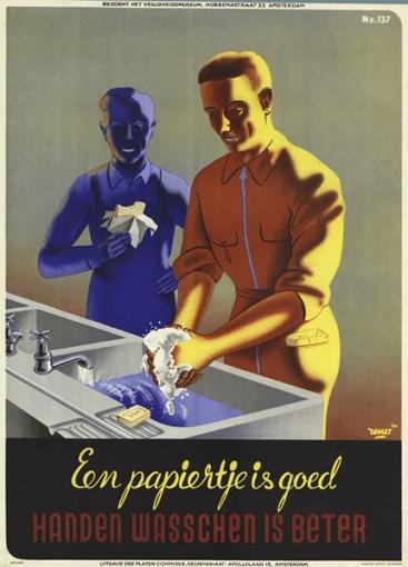 """Ολλανδία, Renes- Jan Rot -1945 """"καλό είναι το χαρτί, αλλά το πλύσιμο χεριών είναι καλύτερο."""""""