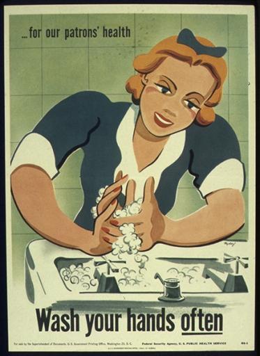 """Αμερική, Seymour Nydorf - 1941-1945 """"πλένε συχνά τα χέρια σου"""""""