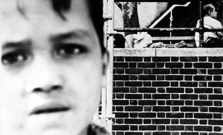 William Klein Kid + Homeless, New York, circa 1955